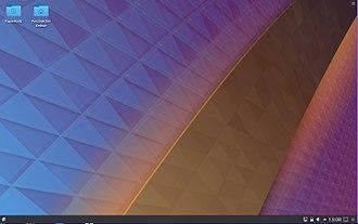 Kubuntu - Image: Kubuntu 18.04 Desktop