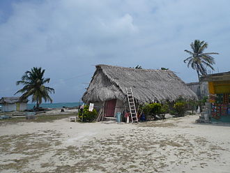 Indigenous peoples of Panama - Kuna house on the San Blas Islands, 2007