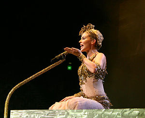 "Cowboy Style - Minogue performing ""Cowboy Style"" during her Showgirl: The Homecoming tour, 2006."