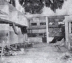 Léopoldville riots - Damage to the Congolese Public Market in Léopoldville from the riots