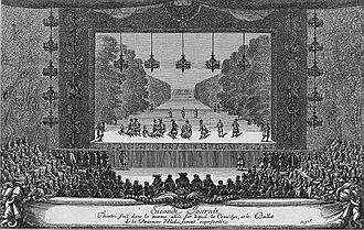 Représentation de La Princesse d'Élide à Versailles.