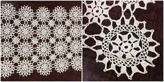 lace made in Greece, or of the Greek type