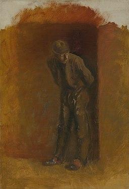 Ladislav Mednyánszky - Figure of a Vagrant in Hat - O 4211 - Slovak National Gallery