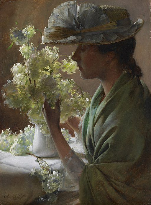 Lady with a Bouquet (Snowballs) - Charles Courtney Curran - Google Cultural Institute