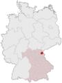 Lage des Landkreises Wunsiedel i.Fichtelgebirge in Deutschland.png