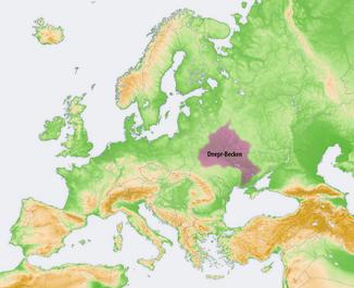 Lage des Dnepr-Beckens