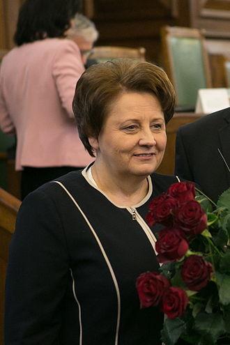 Latvian parliamentary election, 2014 - Image: Laimdota Straujuma 2014