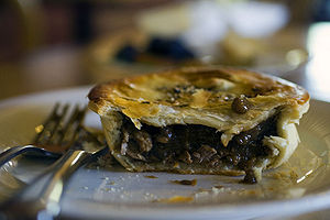 A VERY delicious lamb and rosemary meat pie, a...