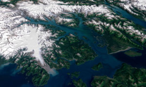 Glacier Bay Basin - Landsat image of Glacier Bay