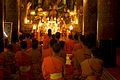 Laos - Luang Prabang 100 - evening prayer at Wat Xieng Thong (6582764551).jpg