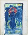 Large Boston Public Garden Sketchbook- Night scene with figures carrying umbrellas MET DT3426.jpg