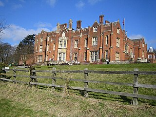English country house larger mansion estate in England, UK