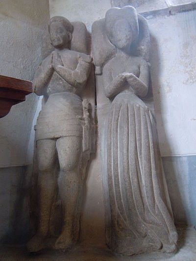 The gisant of Perronville de Boutteville and Bertrand de Trogoff