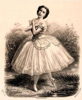 Le papillon (ballet) - Emma Livry as Farfalla in the ballet Le papillon, Paris, 1861