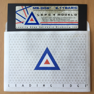 Leading Edge Model D - The included boot disk for the Leading Edge Model D in its sleeve.