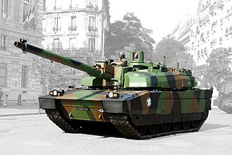 Leclerc tank - Demonstration of a Leclerc tank in Paris, on Bastille Day, 14 July in 2006