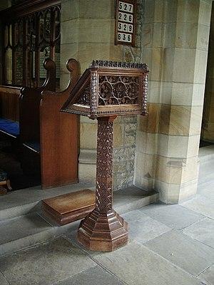 English: Lecturn, Parish Church of St Leonard,...