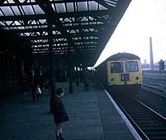 Leicester Central railway station - The last ever train to call at Leicester Central on Saturday 3 May 1969