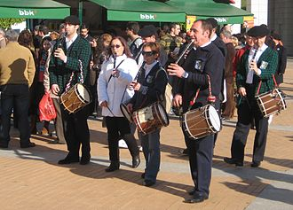 Basque music - Txistu ensemble in the streets of Leioa