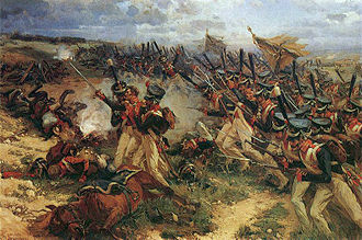 Battle of Borodino - Russian Leib-Guard attacking at Borodino