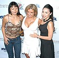 Lena Lang, Andrea Evans, Leilani at Corruption Party 4.jpg
