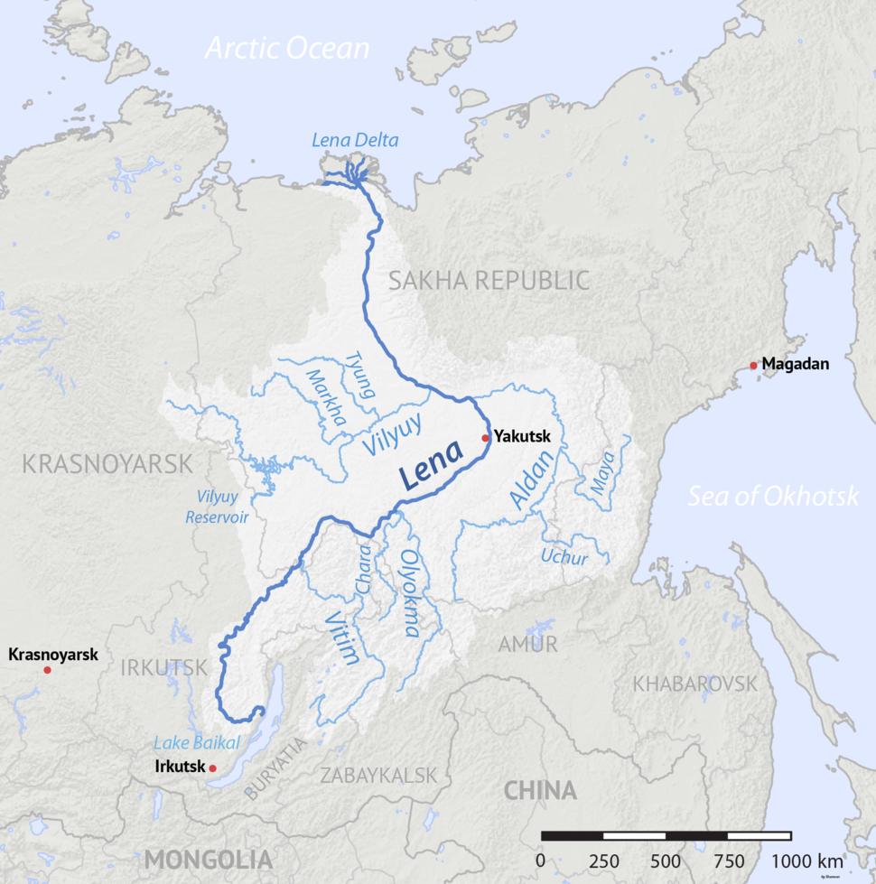 Lena River basin