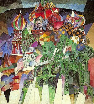 Aristarkh Lentulov - Saint Basil's Cathedral, 1913, Tretyakov Gallery, Moscow.