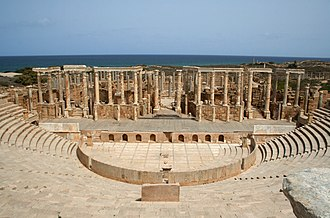 Muslim conquest of the Maghreb - Roman Theatre at Leptis Magna
