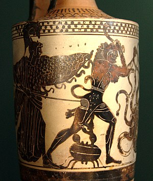 Athena, Heracles attacked by the crab and the ...