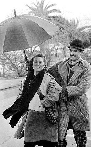 Letizia Battaglia - Letizia Battaglia and Franco Zecchin in Mondello (1987)