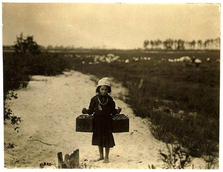 File:Lewis Hine, Rose Biodo, age 10, berry carrier, Browns Mills, New Jersey, 1910.jpg