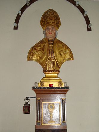 Gratus of Oloron - Bust of Saint Gratus of Oloron in the church dedicated to him at Lichos