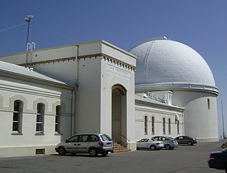 Nicholas Mayall - The main Lick Observatory building and the South (large) Dome that houses the south telescope