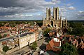 Lincoln Cathedral from Lincoln Castle - geograph.org.uk - 1651464.jpg