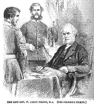 William Carus Wilson - William Carus Wilson (seated), from The Children's Friend, 1864.