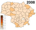 Lithuania unemployment in 2008.png