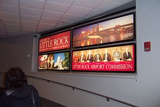Clinton National Airport - Welcoming sign at terminal