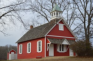 Maryland Route 662 - Schoolhouse at Longwoods