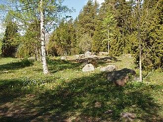 Leucodonta bicoloria - Habitat, Sweden