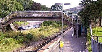 Llwynypia railway station - Image: Llwynypia Station Rhondda