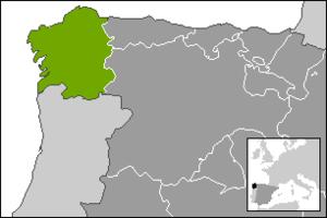 Día Nacional de Galicia - Location of Galicia