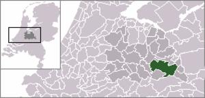 Maarsbergen - Image: Locatie Utrechtse Heuvelrug