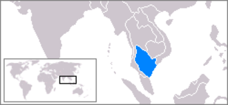 Gulf of Thailand - Map showing the location of the gulf