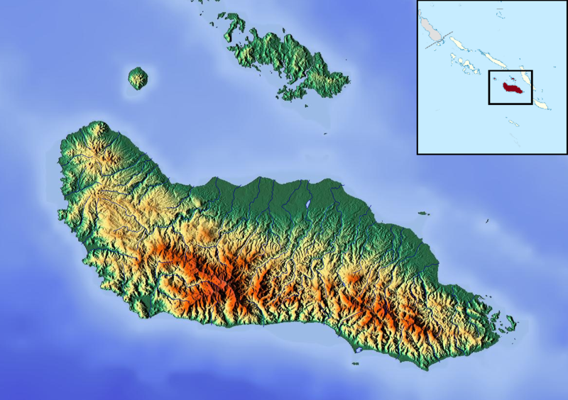 Guadalcanal island map — pic 5