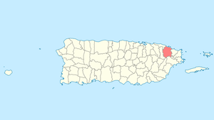 Location of Río Grande in Puerto Rico