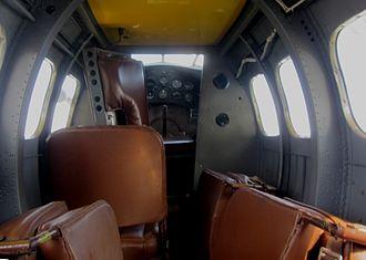 Lockheed Vega - Lockheed Vega Interior - Metal Fuselage Variant