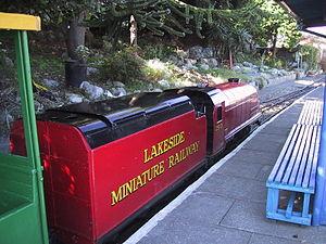 Lakeside Miniature Railway - Barlow locomotive Prince Charles.