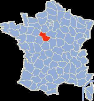 Communes of the Loir-et-Cher department - Image: Loir et Cher Position