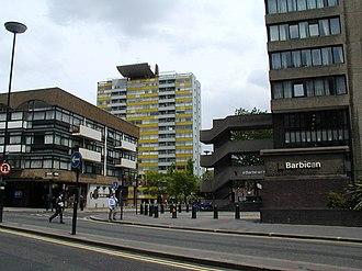 Fann Street - View from Aldersgate Street, looking down Fann Street
