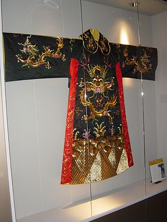 Robe - A dragon robe from Qing Dynasty of China
